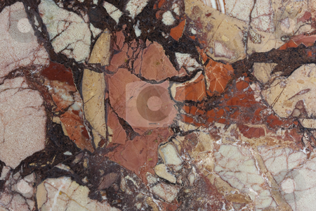 Multicolornatural marble stone texture  stock photo, Multicolor (pink, red, orange, brown)  natural marble stone texture from a polished tile by Marek Uliasz