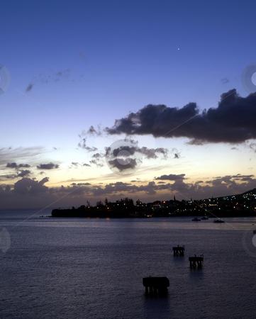 Venus in the night sky over St. Kitts stock photo, View of Venus in the night sky over St. Kitts by Jill Reid