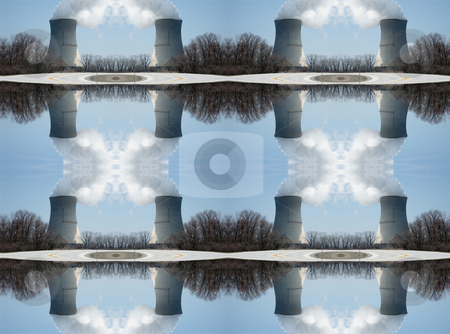 Nuclear Reflections Background Pattern stock photo, Nuclear Reflections - Background Pattern. by Dazz Lee Photography
