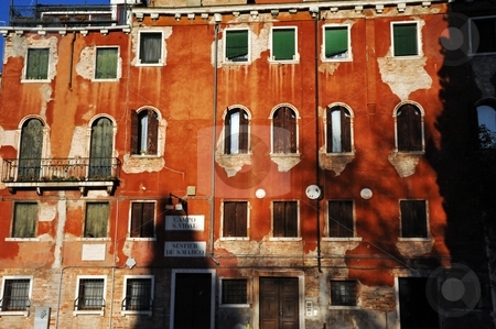 Old Venetian building in Campo San Vidal stock photo, Old Venetian building in Campo San Vidal by Jaime Pharr