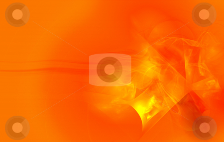 Orange Abstract stock photo, Digitally generated orange abstract, very vivid colors by iodrakon