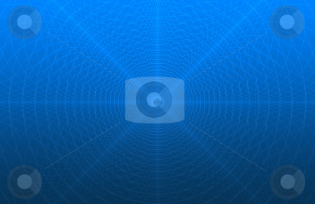 Blue security pattern simulation background stock photo, Digitally generated security pattern (as in the back of checks) simulation over a blue gradient, thumbnail may not fully reflect the amount of fine detail in the image by iodrakon
