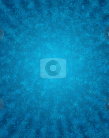 Blue background with snowflakes stock photo, Computer generated blue background with overlayed different shape and size snowflakes by iodrakon