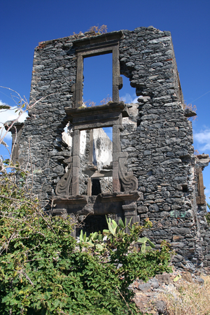 Old Ruin 2 stock photo, Old ruin along the coast from Canico, Madeira by Helen Shorey