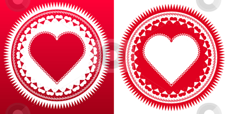 Vector Love Seal stock vector clipart, Love Seal, composed of various heart shapped patterns by iodrakon