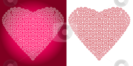 Vector Lace Heart stock vector clipart, Vector Lace Heart, very detailed pattern by iodrakon