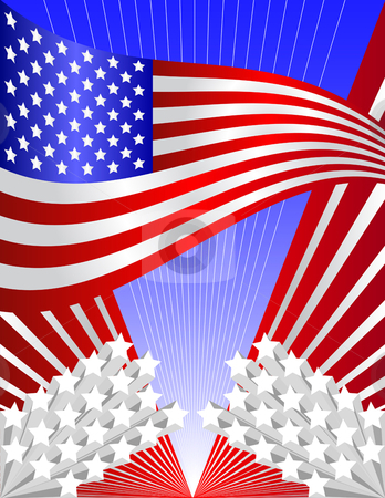 USA patriotic background stock vector clipart, Vector USA patriotic background - all elements can be used independently by iodrakon