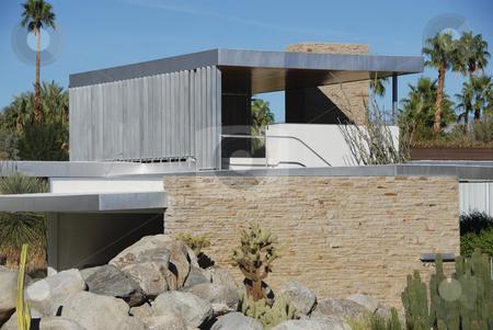 Kaufmann Desert House, in Palm Springs, California stock photo,  by Didier Tais