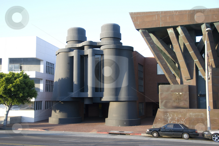 Frank Gehry's Binocular Building in Venice, California stock photo,  by Didier Tais