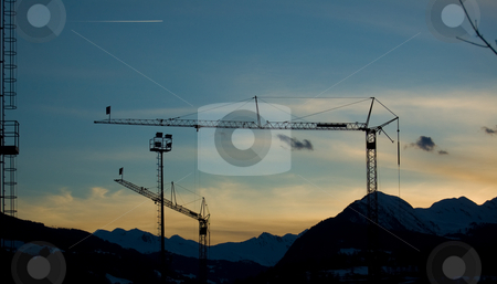 Industrial crane stock photo,  by Piero Biondo