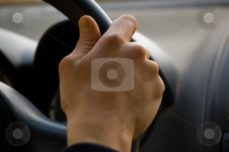 Driving hand stock photo,  by Piero Biondo