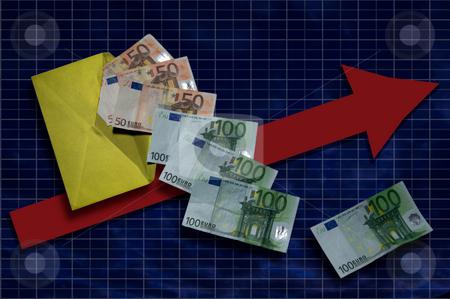 Money flow contcept with arrows stock photo,  by Piero Biondo