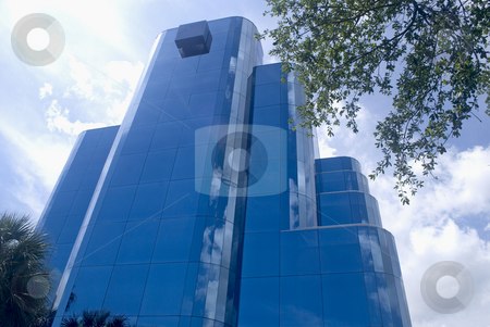 Blue Building stock photo, Blue Building vertical perspective by Robert Cabrera