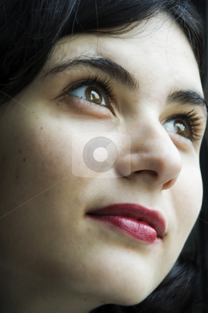 Sight in the sky stock photo, The girl has directed the sight in the sky by Aleksandr GAvrilov
