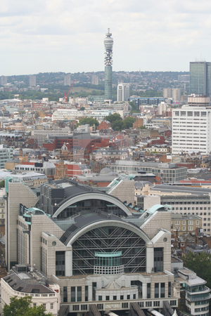 Charing Cross Station stock photo, View of Charing Cross station with the Telecom Tower in the background by Helen Shorey