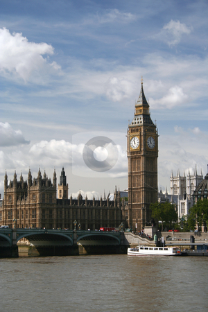 Big Ben, London stock photo, Clock tower of the Houses of Parliament in London, UK. Big Ben is actually the name of the bell not the tower! by Helen Shorey