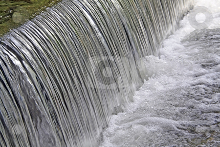 Flowing water stock photo, Gentle waterfall in a nature reserve by Chris Alleaume