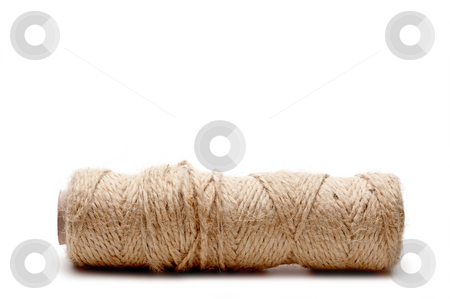 Horizontal close up of the end of a spool of twine stock photo, Horizontal close up of the end of a spool of twine by Vince Clements