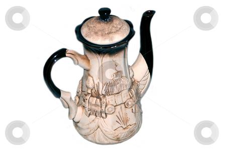 Decorative coffee-pot stock photo, Decorative coffee-pot on a white background by Alexey Rumyantsev