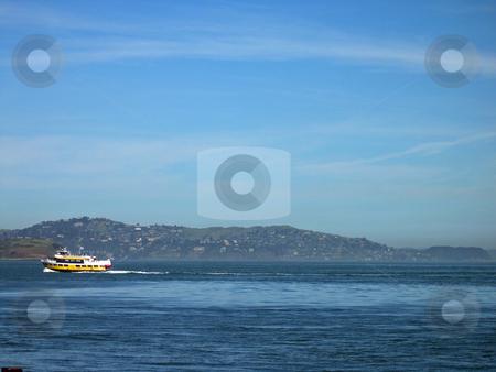 Ferry on San Francisco bay stock photo, Ferry on San Francisco bay by Jaime Pharr