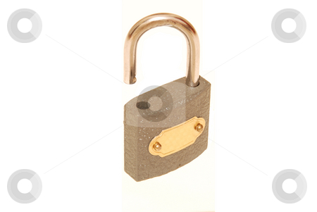 Opened lock stock photo, Opened lock on a white background by Alexey Rumyantsev