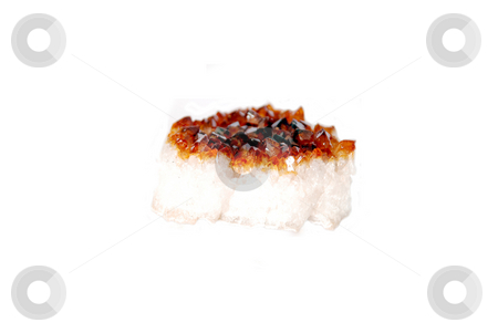 Stone with cristals stock photo, Stone with cristals isolated on a white by Alexey Rumyantsev