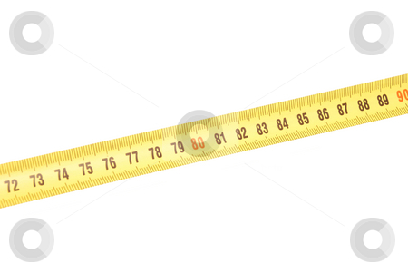 Centimetres stock photo, Centimetres line isolated on a white by Alexey Rumyantsev
