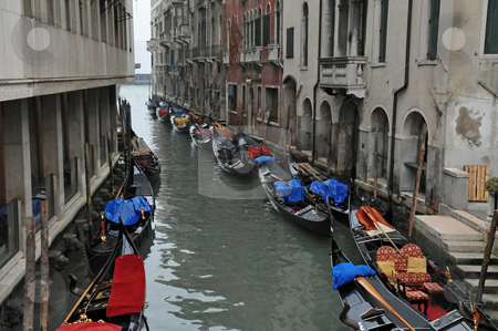 Venice canal stock photo, Canal in Venice Italy by Jaime Pharr