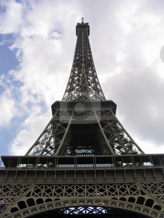 Eiffel Tower stock photo, Looking up at the Eiffel Tower by Jaime Pharr