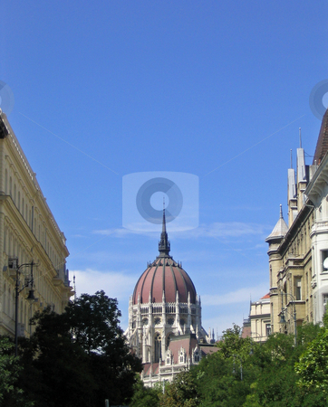 Parliament building in Budapest Hungary stock photo, Dome of the parliament building in Budapest Hungary by Jaime Pharr