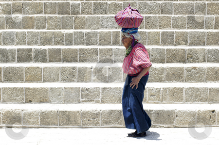 Older Native Woman  stock photo, Lake Atitlan, Guatemala by Michael Cohen