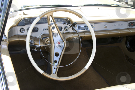 Vintage Car Show stock photo, Wheel and other auto part at the mostly Chevy car show in Los Angeles, by Didier Tais