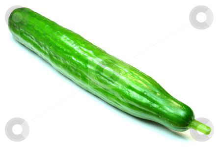 Green cucumber stock photo, Vegetable: cucumber by Fernando Barozza