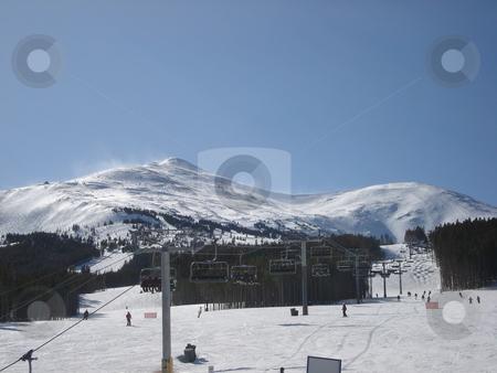 Colorado Ski Resort stock photo, A sunny day at a Colorado ski resort. by Ben O'Neal