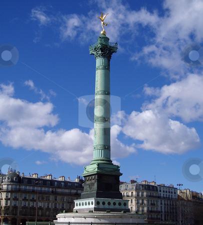 Place de la Bastille stock photo, July column at Place de la Bastille in Paris by Jaime Pharr