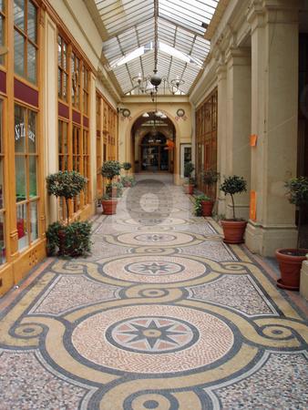 Paris galerie stock photo, Galerie passageway in Paris by Jaime Pharr