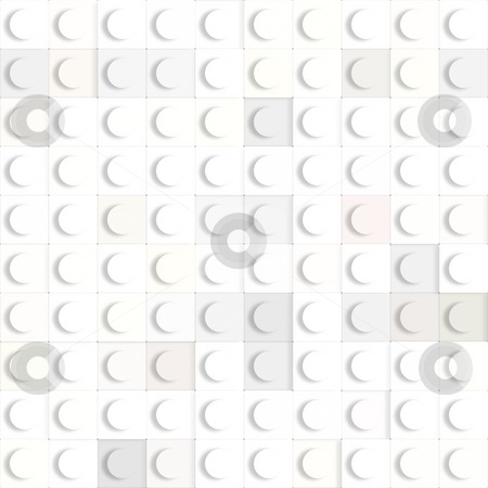 Toy cubes pattern stock photo, 3d texture of square white constructing blocks by Wino Evertz