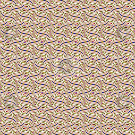 Intertwined waves pattern stock photo, Seamless texture of regular swirling waves in pastel colors by Wino Evertz