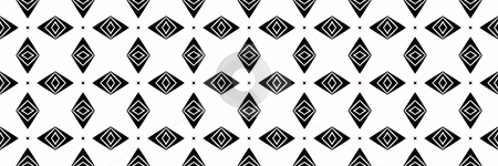 Tribal black shapes pattern stock photo, Seamless texture of black checkered shapes on white by Wino Evertz