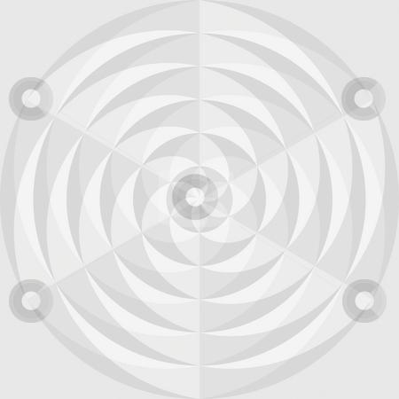 Grey flower mandala stock photo, Optical geometrical pattern of grey transparent shapes by Wino Evertz