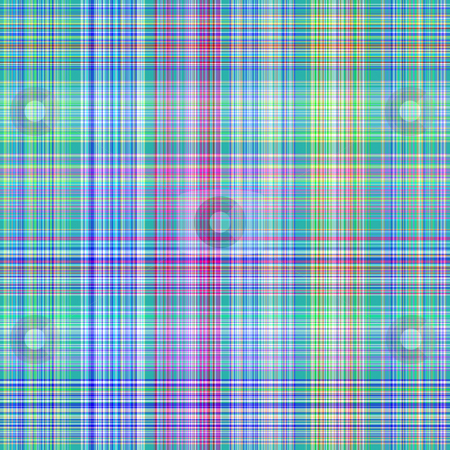 Blue tartan pattern stock photo, Seamless texture of detailled woven tartan lines in blue by Wino Evertz