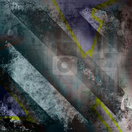 Grungy Hazard Stripes stock photo, Diagonal hazard stripes texture. This makes a great background. by Todd Arena