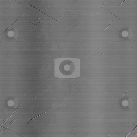Scratched Metal stock photo, Scratched and gashed metal plate texture that makes a great background. by Todd Arena