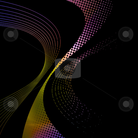 Abstract Wires Background stock photo, An abstract wires background illustration with plenty of copyspace - add style to any design. by Todd Arena