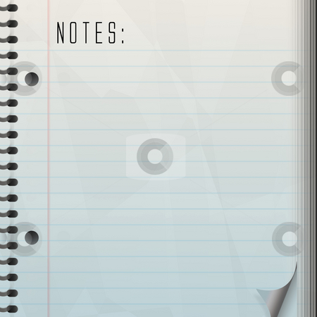 Blank Note Pad stock photo, A blank page for notes with a page curl. by Todd Arena