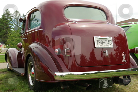 Custom 36' Chevy stock photo, This vintage, burgundy color, 1936 Chevy (Chevolet) 2-door sedan has been restored and given new life. by Dennis Thomsen