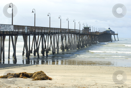 Imperial Beach Boardwalk stock photo, Wooden pier at Imperial Beach, California, USA by Stephen Gibson