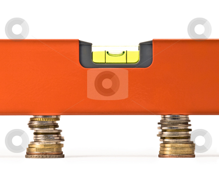 Money balance stock photo, conceptual image wich may represent money balance, exchange rate, fair trade or
