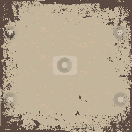 Brown Grunge stock photo, A worn looking grunge background in a earth tone. by Todd Arena
