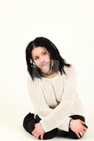 Beautiful girl stock photo, Portrait of a pretty woman with alternative style by Tom P.